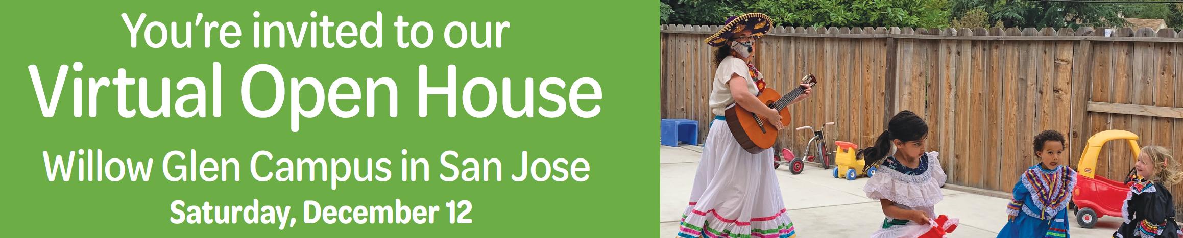 KSS Immersion Preschool of Willow Glen San Jose Open House on December 12th